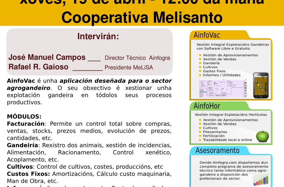 Socios de Melisanto informatizarán as súas explotacións con AinfoVac