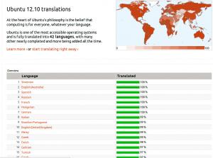 Trasno presenta Ubuntu 12.10 co galego como 14 idioma máis completo