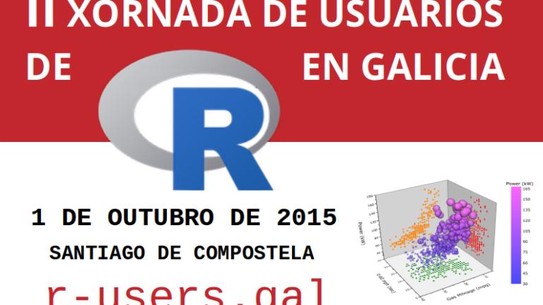 Cartel II Xornada de Usuarios de R en Galicia